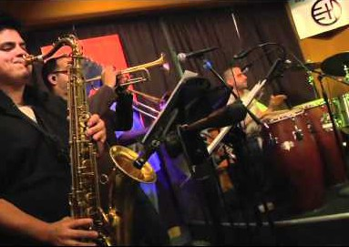 A picture of a latin jazz band